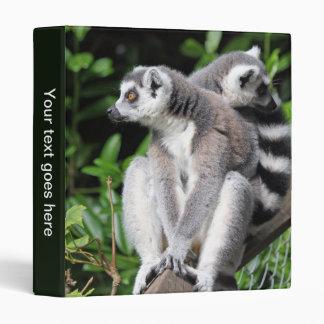 Lemur ring-tailed cute photo album, binder, folder