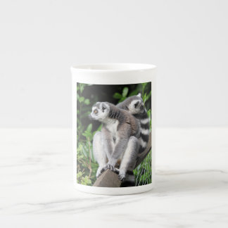 Lemur ring-tailed cute photo bone china mug, gift