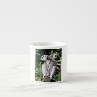 Lemur ring-tailed cute photo espresso mug, gift