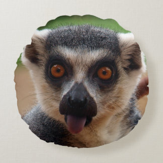 Lemur Round Pillow