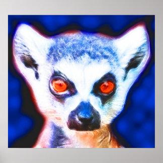*Lemur* Spirit Art Poster Print