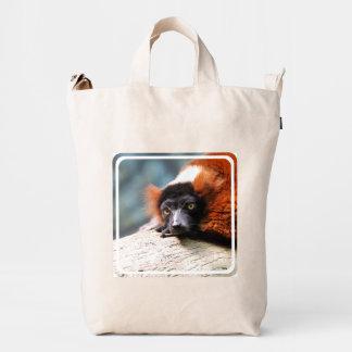 Lemur superado rojo de reclinación bolsa de lona duck