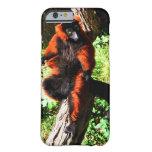 Lemur superado rojo funda de iPhone 6 barely there