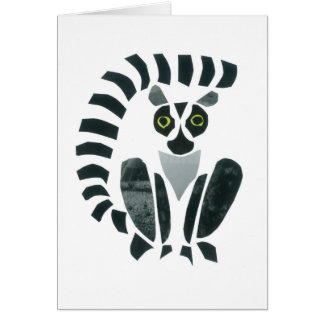 Lemur Tarjeta De Felicitación