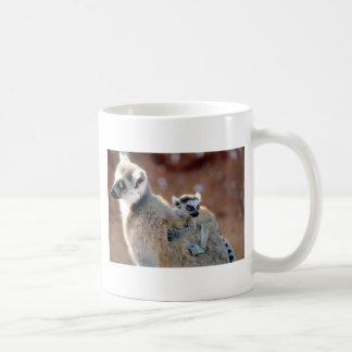 Lemur y bebé del Ringtail Taza De Café