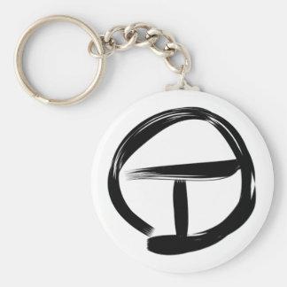 Lemurian Tau Symbol Basic Round Button Keychain