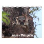 Lemurs del calendario de Madagascar