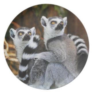Lemurs Dinner Plate