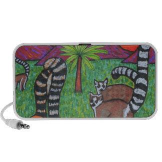 Lemurs en la hierba altavoces de viajar