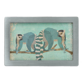 Lemurs Out On A Limb Blue Belt Buckle