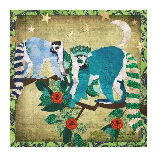 Lemurs Shooting Stars Canvas Gallery Wrap Canvas