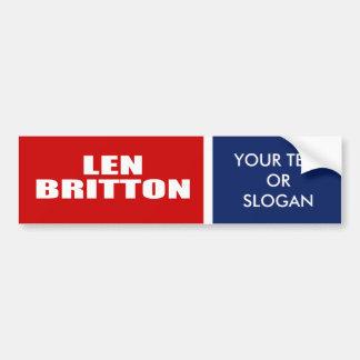 LEN BRITTON FOR SENATE BUMPER STICKER