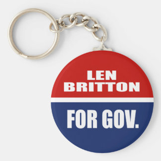 LEN BRITTON FOR SENATE KEY CHAIN