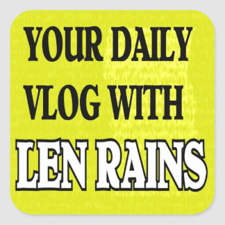Len llueve a los pegatinas pegatina cuadrada