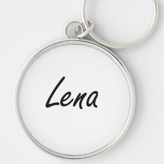 Lena artistic Name Design Keychain