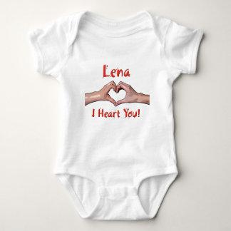 Lena - I Heart You! Baby Bodysuit