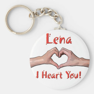 Lena - I Heart You! Keychain