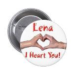 Lena - i Heart You! Pin
