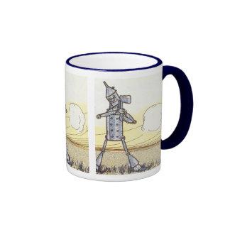 Leñador de la lata tazas de café