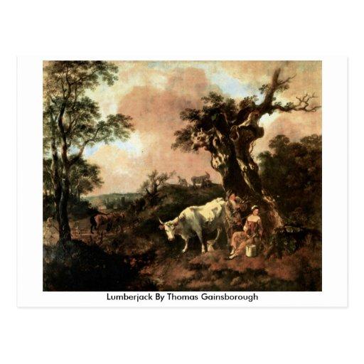 Leñador de Thomas Gainsborough Postal