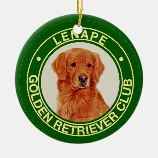 Lenape Golden Retriever Club Holiday Ornament