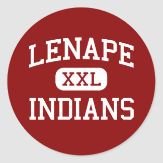 Lenape - Indians - High - Medford New Jersey Classic Round Sticker