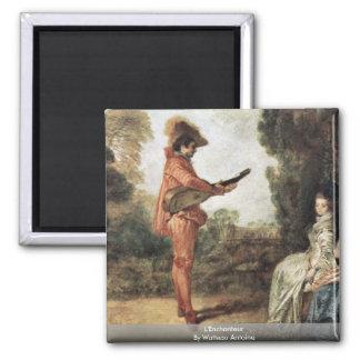 L'Enchanteur By Watteau Antoine 2 Inch Square Magnet