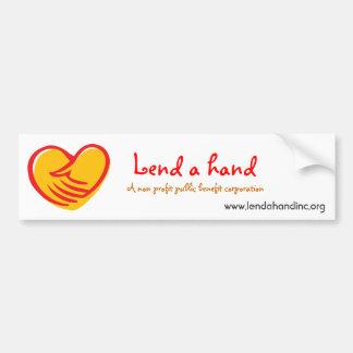 lend a hand bumper sticker car bumper sticker