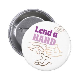 Lend A Hand 2 Inch Round Button