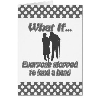lend a hand card