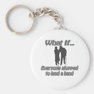 lend a hand keychain