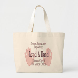 Lend A Hand Large Tote Bag