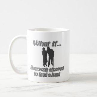 lend a hand mug