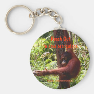 Lend a Hand to Animal Friends Basic Round Button Keychain