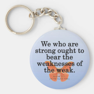 Lend a Helping Hand Romans 15-1 Keychain