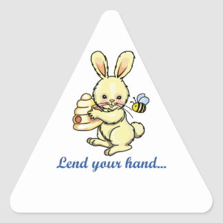 LEND YOUR HAND TRIANGLE STICKER