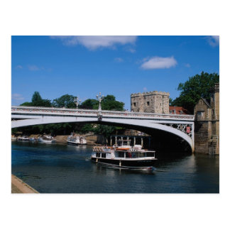 Lendal Bridge, Ousse River, York, North Yorkshire, Postcard