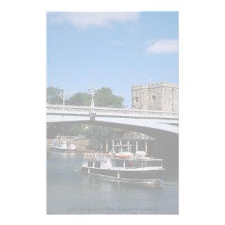 Lendal Bridge, Ousse River, York, North Yorkshire, Customized Stationery
