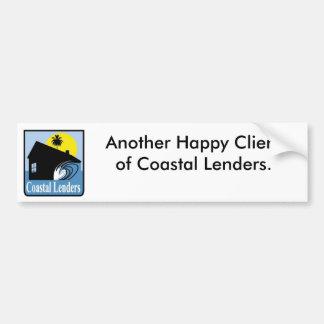 Lenders costera pegatina de parachoque