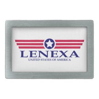 Lenexa Pride Rectangular Belt Buckles