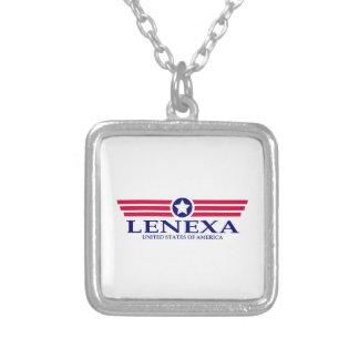 Lenexa Pride Square Pendant Necklace