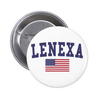 Lenexa US Flag 2 Inch Round Button