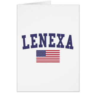 Lenexa US Flag Card