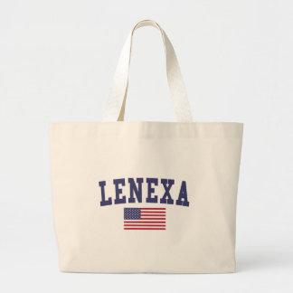 Lenexa US Flag Jumbo Tote Bag
