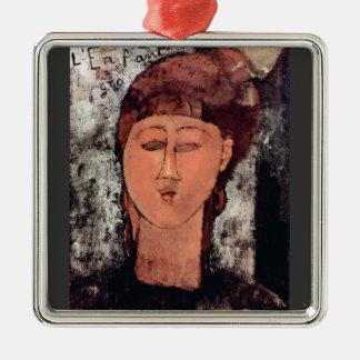 L'Enfant Gras by Amedeo Modigliani Christmas Ornaments