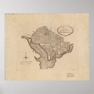 L'Enfant's Plan of Washington Poster