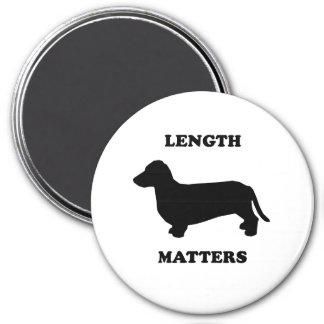 Length Matters 3 Inch Round Magnet