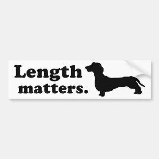 """""""Length Matters."""" (Dachshund) Car Bumper Sticker"""
