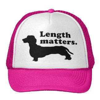 """Length Matters."" (Dachshund) Trucker Hat"