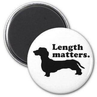 """Length Matters."" (Dachshund) Magnet"